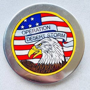 Operation Desert Storm Vintage Pin-back Button